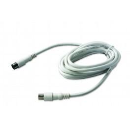 Антенный кабель TV/SAT удлинитель длина 2.5 метра разъемы Male/Female (папа/мапа) Electraline 48211