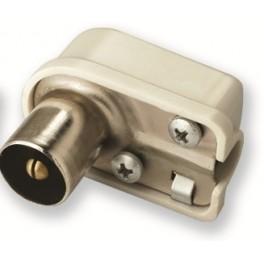 Штекер для антенного телевизионного кабеля с боковым вводом Male (папа) Electraline 62202