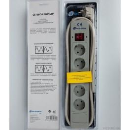 Сетевой фильтр Electraline на 5 розеток кабель ПВС 3х1,5 мм2 3 метра арт.62090