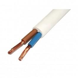 Провод ПВС 2*0,75 белый 10 метров ГОСТ