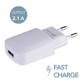 USB зарядное для телефонов и планшетов 2.1А Electraline 500340