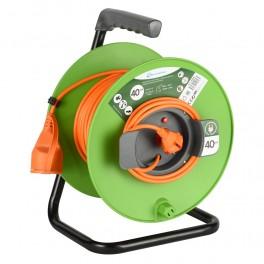 Удлинитель на катушке 40 метров кабель 2х1 мм2 садовый Electraline 49056