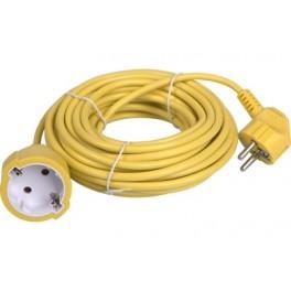 Удлинитель-шнур садовый Electraline кабель ПВС 3х0,75 мм2, 30 метров, 10 А, жёлтый, арт.01642