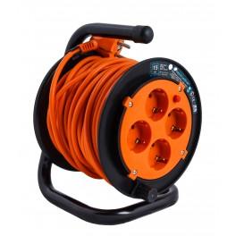 Удлинитель на катушке Electraline на 4 розетки, кабель ПВС 3х0,75 мм2, 15 метров, арт.49111