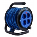 Удлинитель на катушке Electraline на 4 розетки, кабель ПВС 3х0,75 мм2, 15 метров, арт.49112