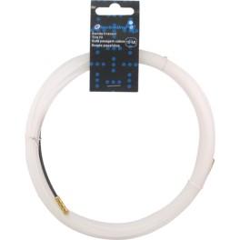 Зонд для протяжки кабеля Electraline 10 метров, белый, арт.61050