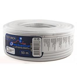 Телевизионный коаксиальный кабель Electraline TV/SAT 21 VATCA 50 метров, медь-алюминий арт.18013