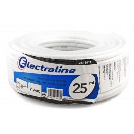 Телевизионный коаксиальный кабель Electraline TV/SAT 21 VATC 25 метров, медь арт.18017
