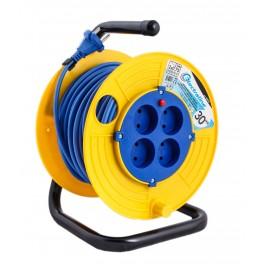 Удлинитель на катушке 30 метров Electraline 49010 кабель 2х0,75 мм2
