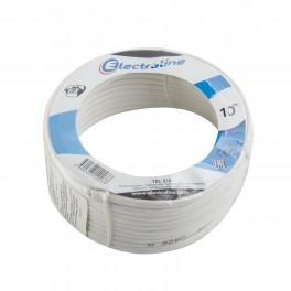 Телефонный кабель 2 жильный 10 метров Electraline 2/4 артикул 14003
