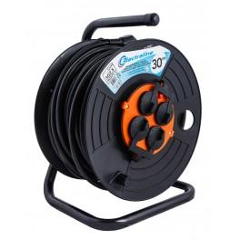 Удлинитель на катушке 30 метров Electraline 49037 кабель ПВС 3х2,5 мм2