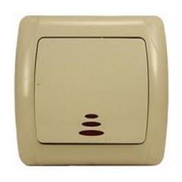 Выключатель двухклавишный с подсветкой Viko Carmen 90562050