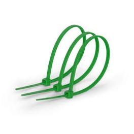 Кабельные стяжки (хомут кабельный) 4,5х200 мм 100 штук зеленые Electraline 60706