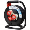Удлинитель на катушке трехфазный 380 Вольт Electraline 49026 кабель 5х2,5мм2  20 метров