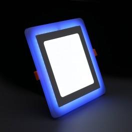 Светильник встраиваемый светодиодный с декоративной подсветкой 3+2 Вт 4000 К квадратный цвет подсветки синий TruEnergy 10251