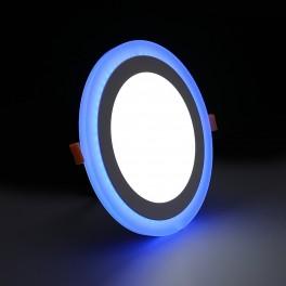 Светильник встраиваемый светодиодный с декоративной подсветкой 12+4 Вт 4000 К круглый цвет подсветки синий TruEnergy 10203