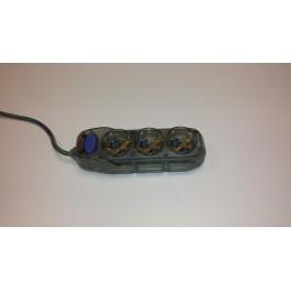 Удлинитель Electraline на 3 розетки 1,5 метра ПВС 3х1 мм2 арт.62349