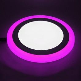 Светильник встраиваемый светодиодный с декоративной подсветкой 3+2 Вт 4000 К круглый цвет подсветки розовый TruEnergy 10213