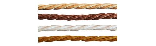 Витой ретро кабель в текстильной оплетке