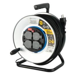 Удлинитель на металлической катушке 50 метров кабель 3х1,5мм2 Electraline 49071