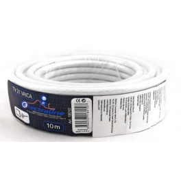 Телевизионный коаксиальный кабель Electraline TV/SAT 21 VATCA 10 метров, медь-алюминий арт.18010