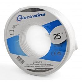 Телевизионный коаксиальный кабель Electraline TV/SAT 21 VATCA 25 метров, медь-алюминий арт.18012