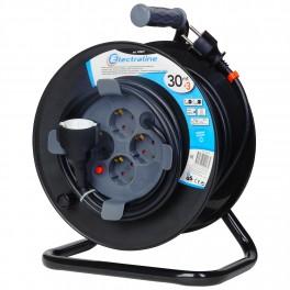 Удлинитель на катушке 30+3 метров Electraline кабель 3х1,5мм2 артикул 49027